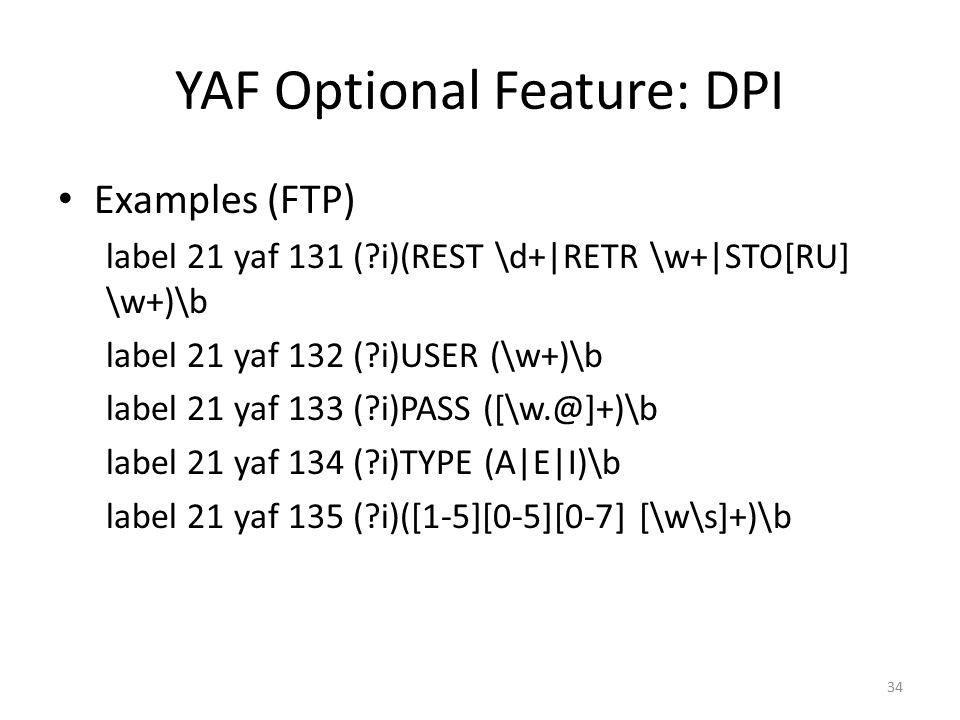 YAF Optional Feature: DPI