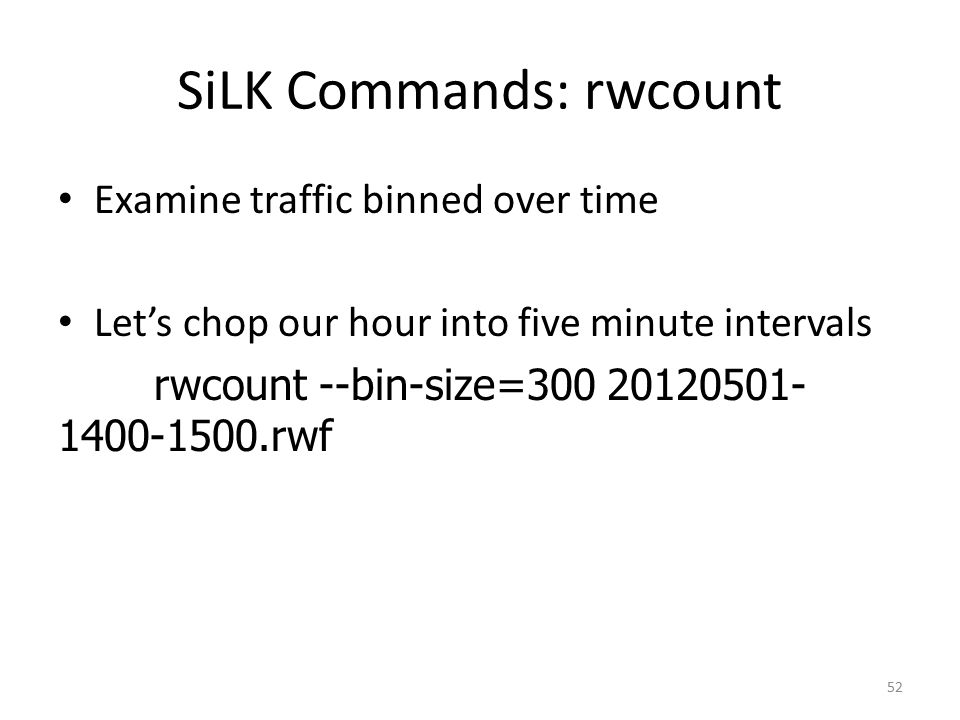 SiLK Commands: rwcount