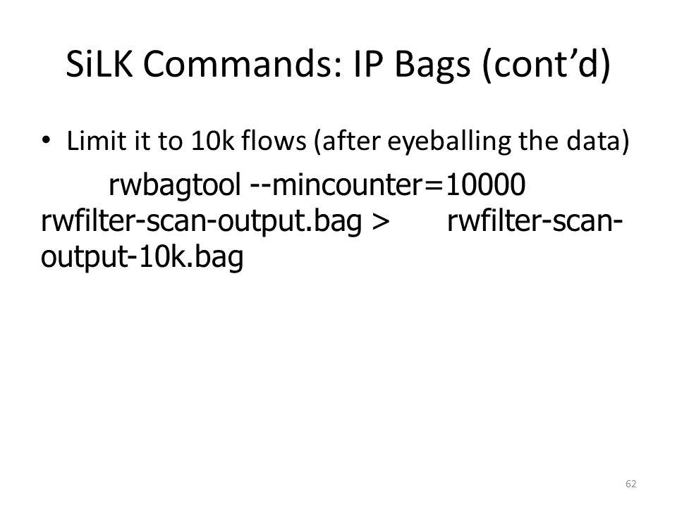 SiLK Commands: IP Bags (cont'd)