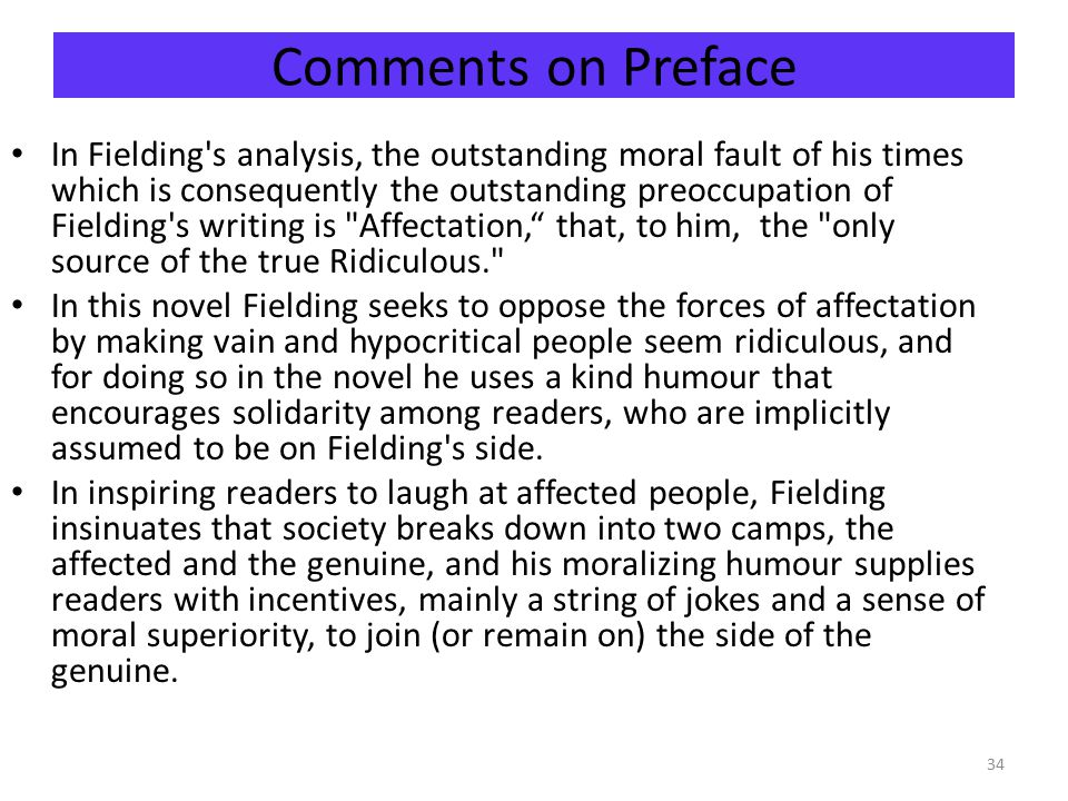 Comments on Preface