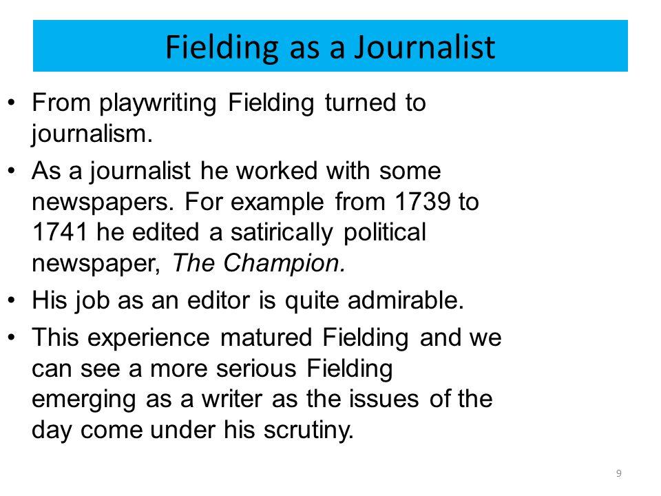 Fielding as a Journalist