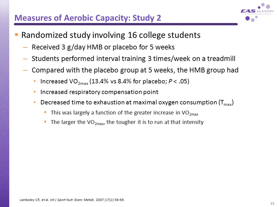 Measures of Aerobic Capacity: Study 2