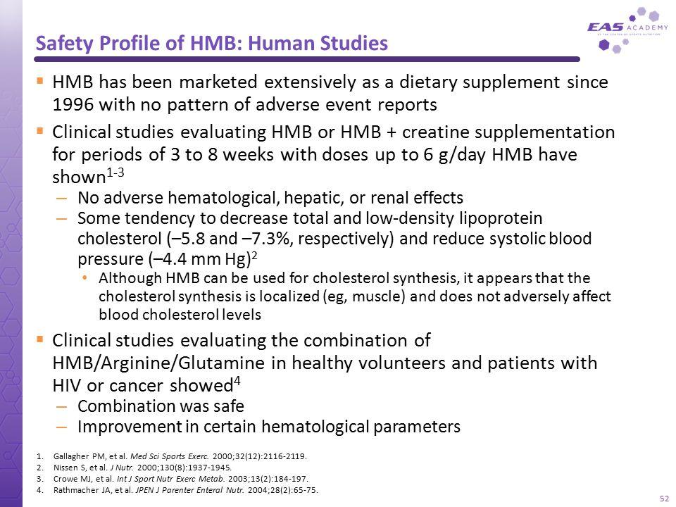 Safety Profile of HMB: Human Studies