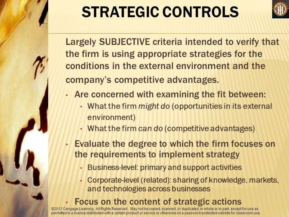 STRATEGIC CONTROLS