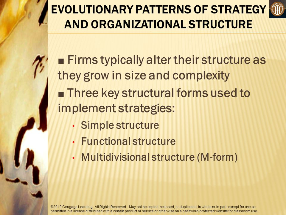 EVOLUTIONARY PATTERNS OF STRATEGY AND ORGANIZATIONAL STRUCTURE