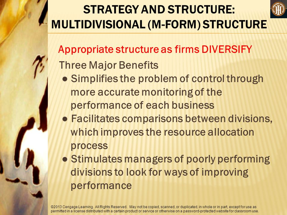 STRATEGY AND STRUCTURE: MULTIDIVISIONAL (M-FORM) STRUCTURE