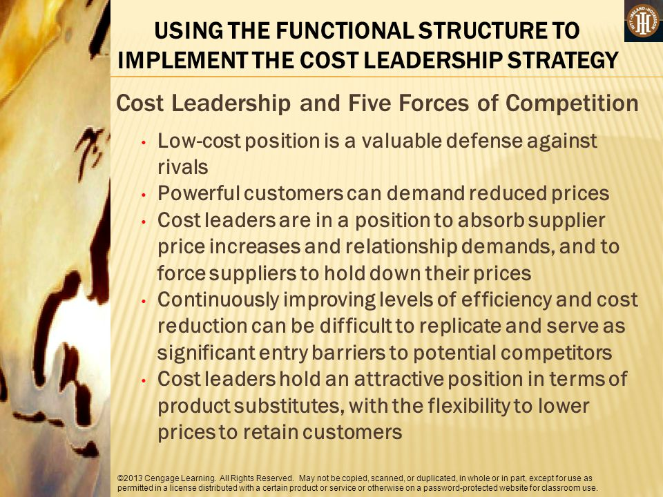 Cost Leadership and Five Forces of Competition