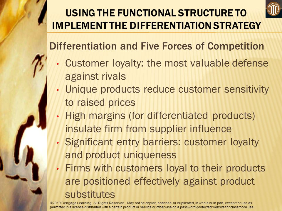 Differentiation and Five Forces of Competition
