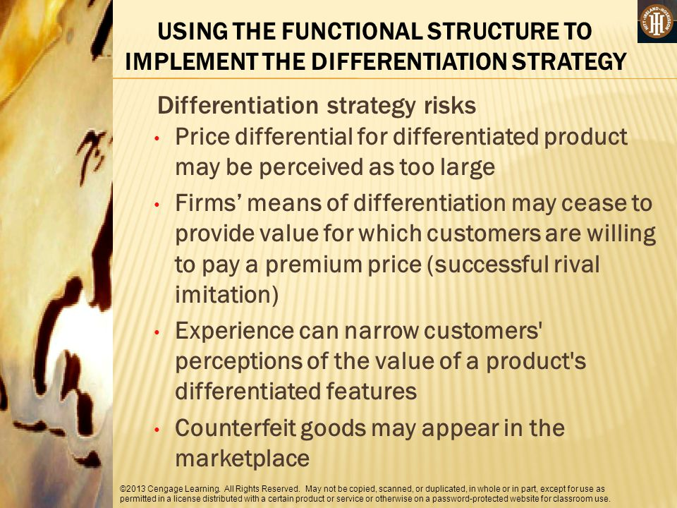 Differentiation strategy risks
