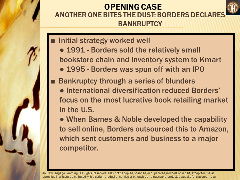 ANOTHER ONE BITES THE DUST: BORDERS DECLARES BANKRUPTCY