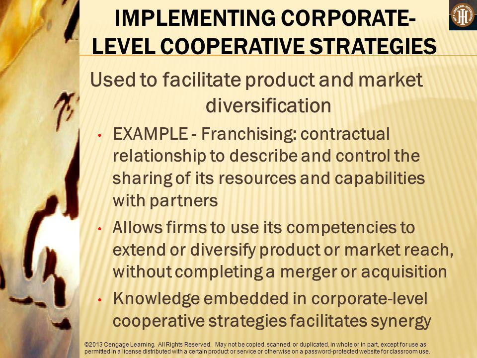 IMPLEMENTING CORPORATE-LEVEL COOPERATIVE STRATEGIES