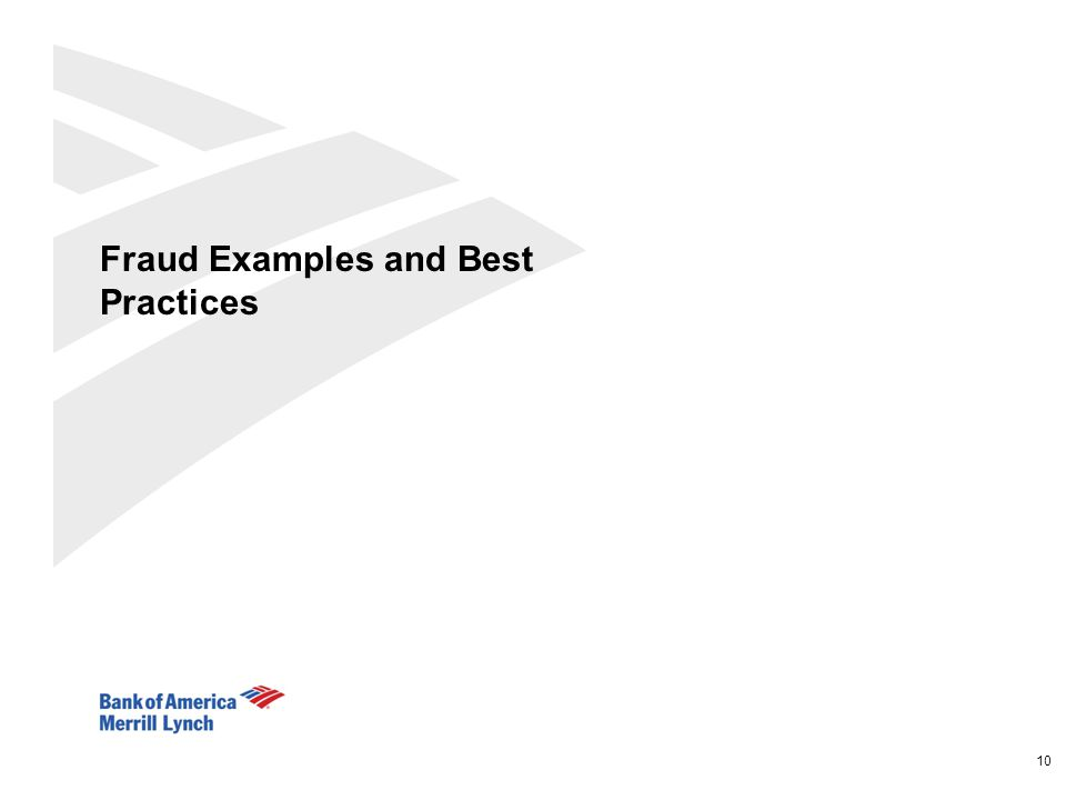 Fraud Examples and Best Practices