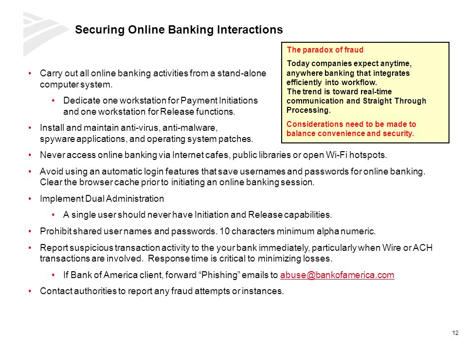 Securing Online Banking Interactions