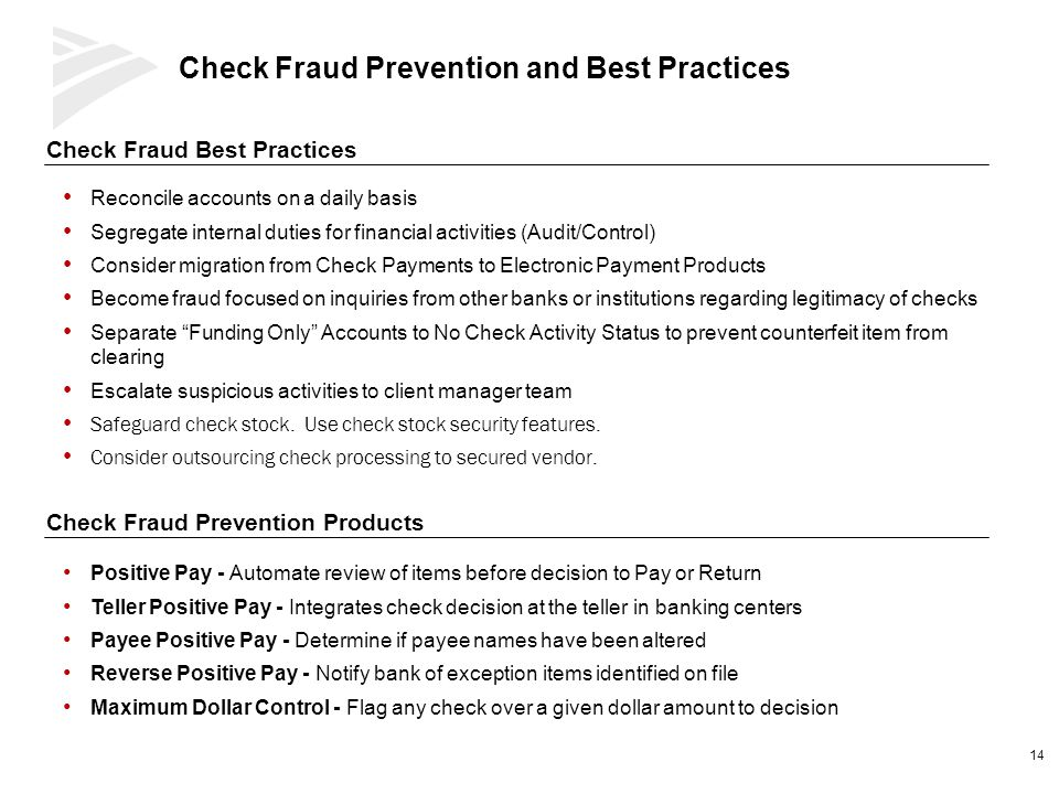 Check Fraud Prevention and Best Practices