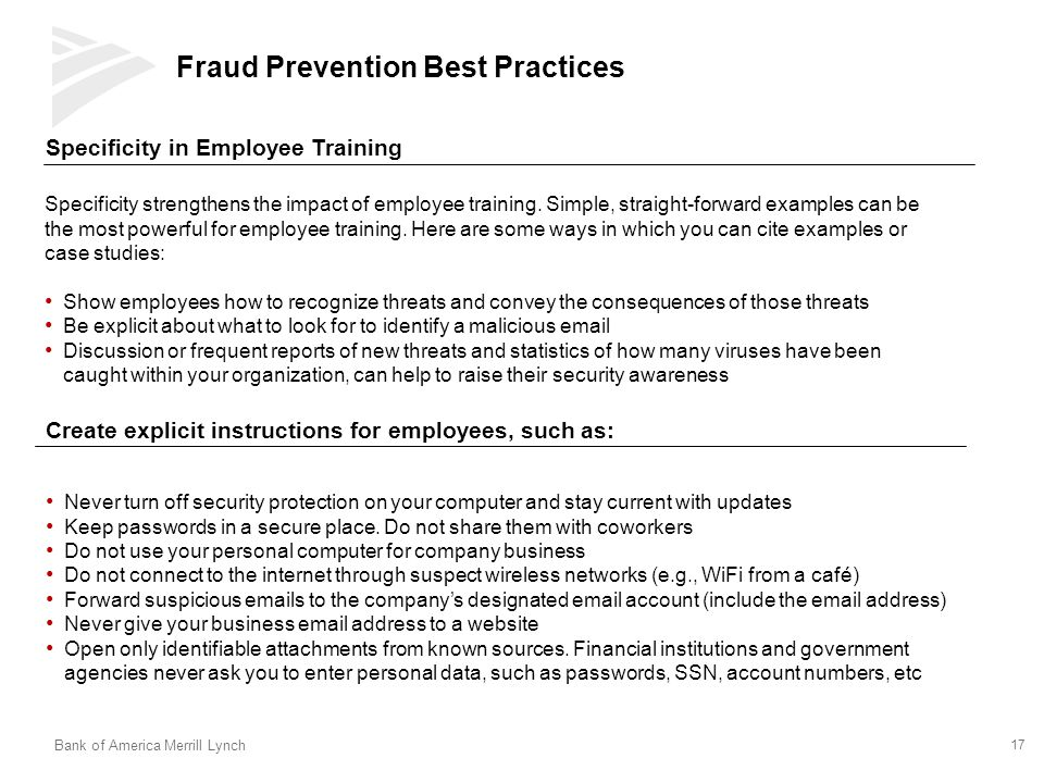 Fraud Prevention Best Practices