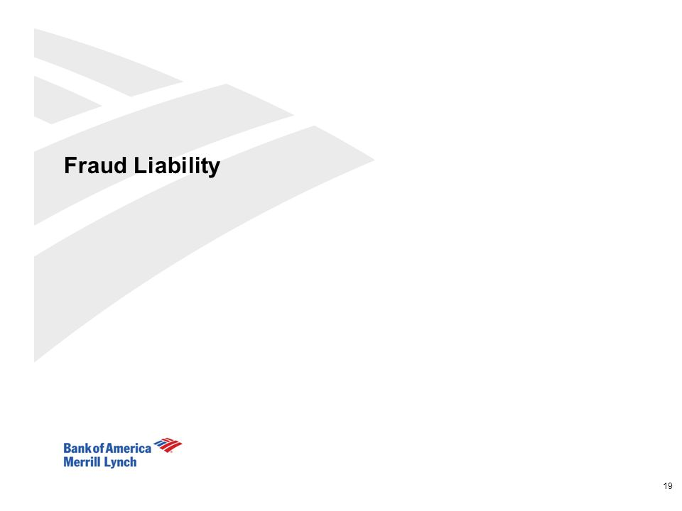 Fraud Liability 19 19