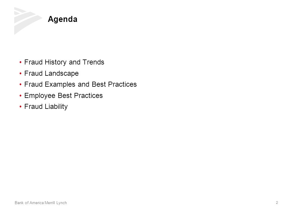Agenda Fraud History and Trends Fraud Landscape