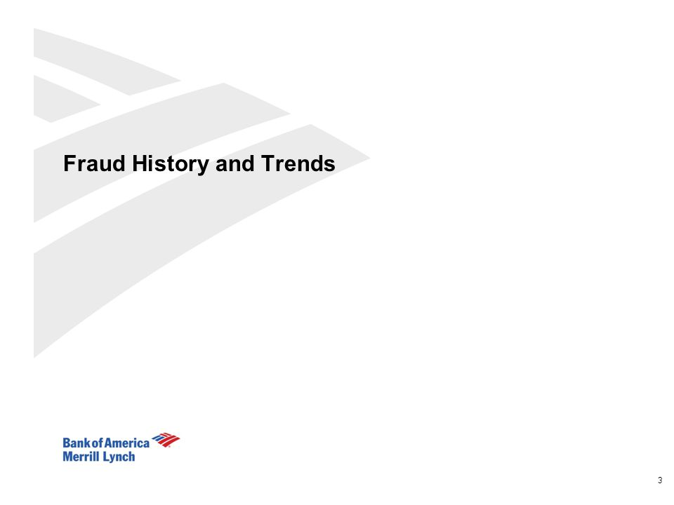 Fraud History and Trends