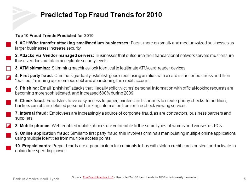 Predicted Top Fraud Trends for 2010