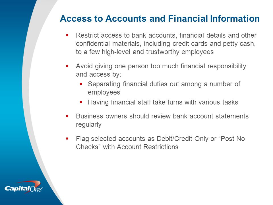Access to Accounts and Financial Information