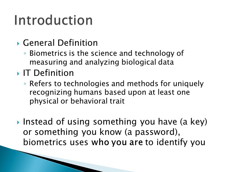 Introduction General Definition IT Definition