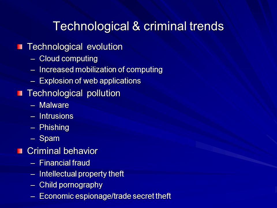 Technological & criminal trends