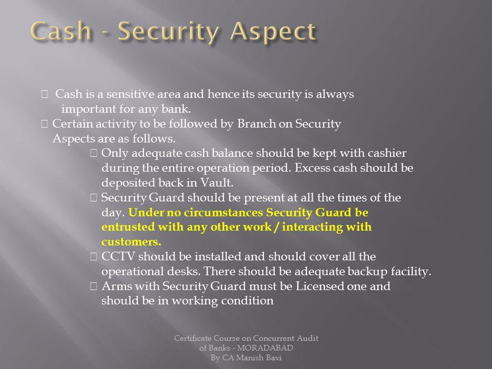 Cash - Security Aspect