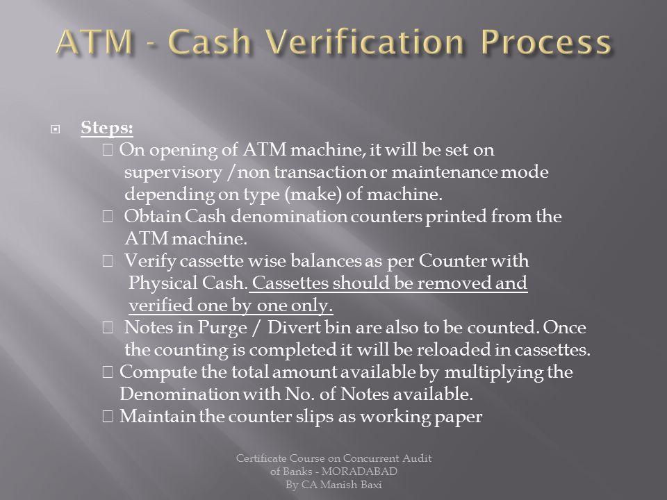 ATM - Cash Verification Process