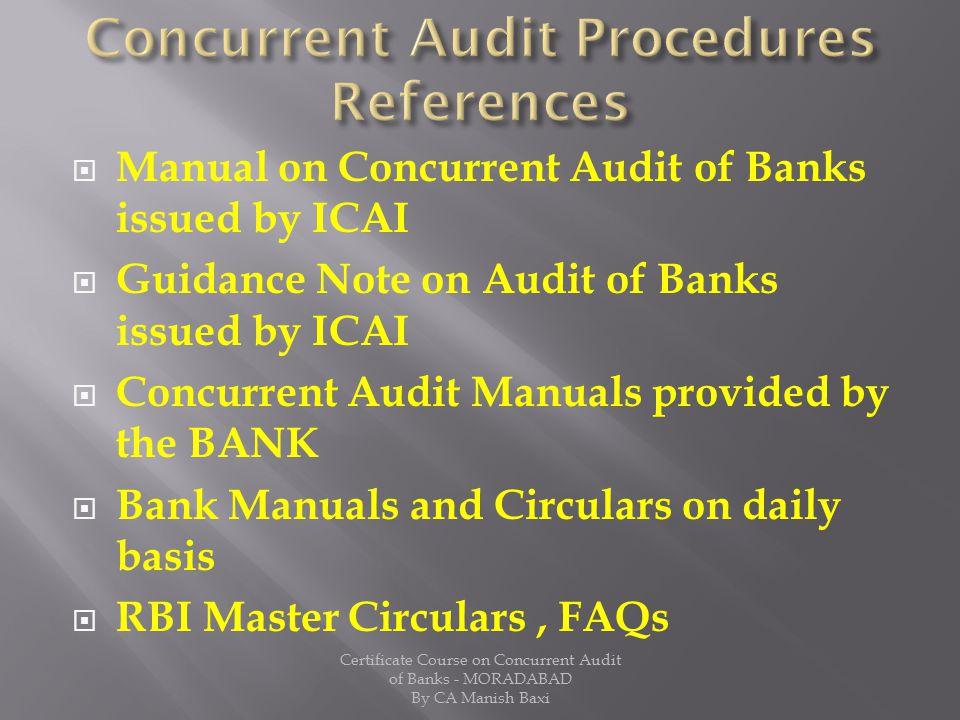 Concurrent Audit Procedures References