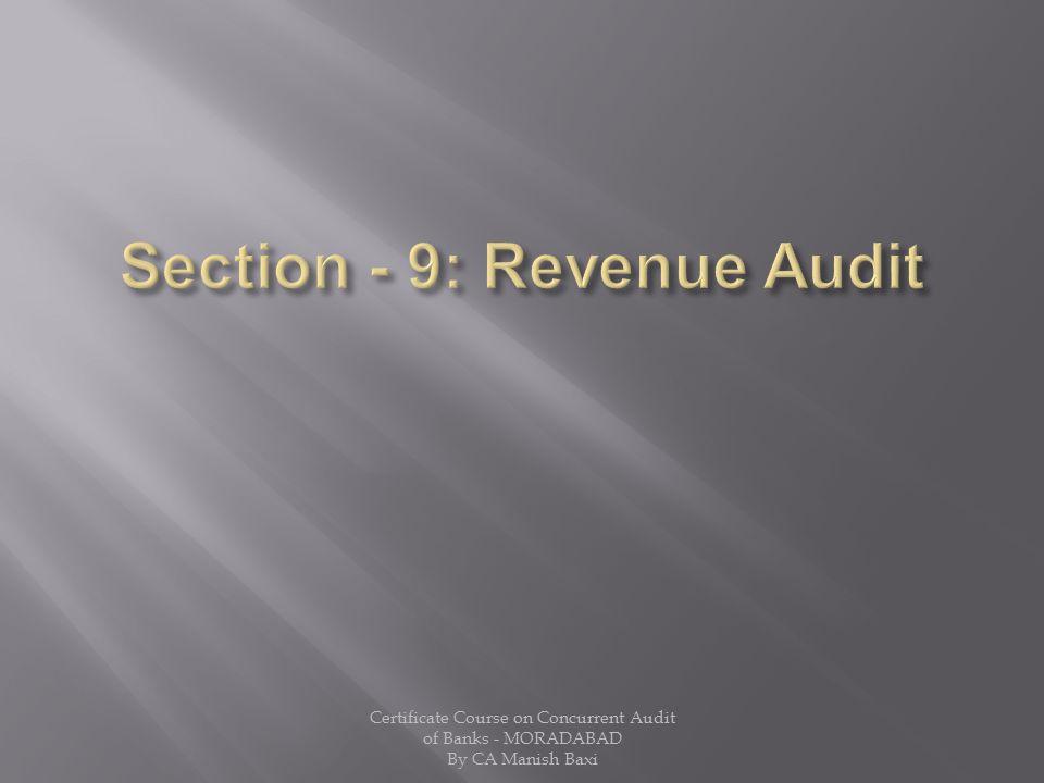 Section - 9: Revenue Audit