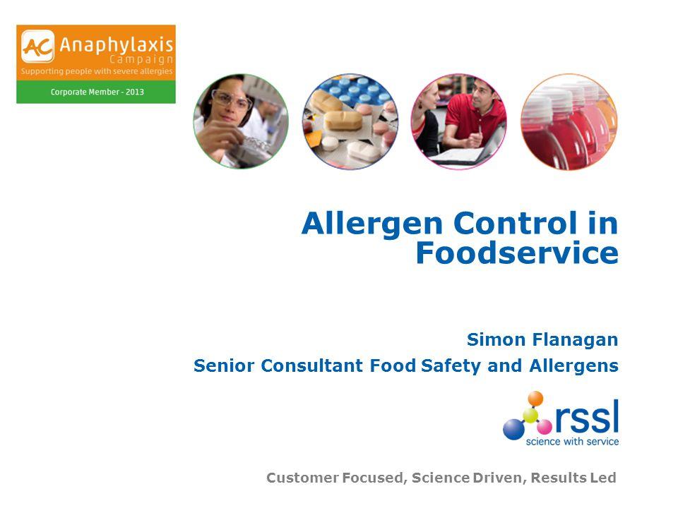 Allergen Control in Foodservice