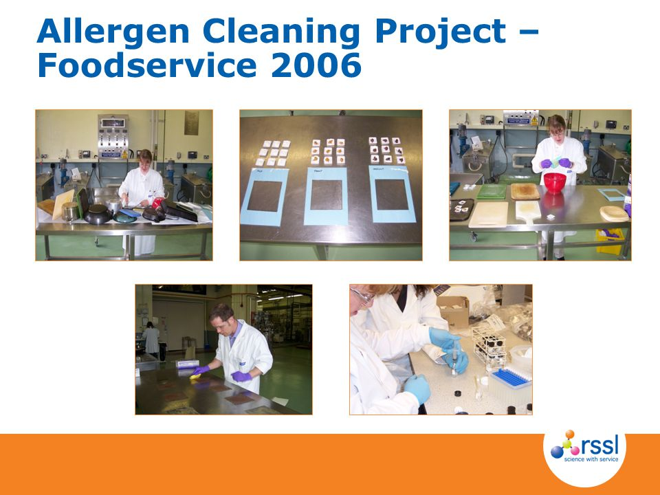 Allergen Cleaning Project – Foodservice 2006