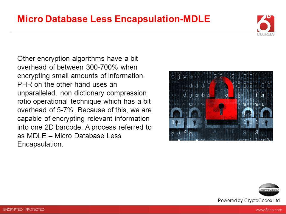Micro Database Less Encapsulation-MDLE