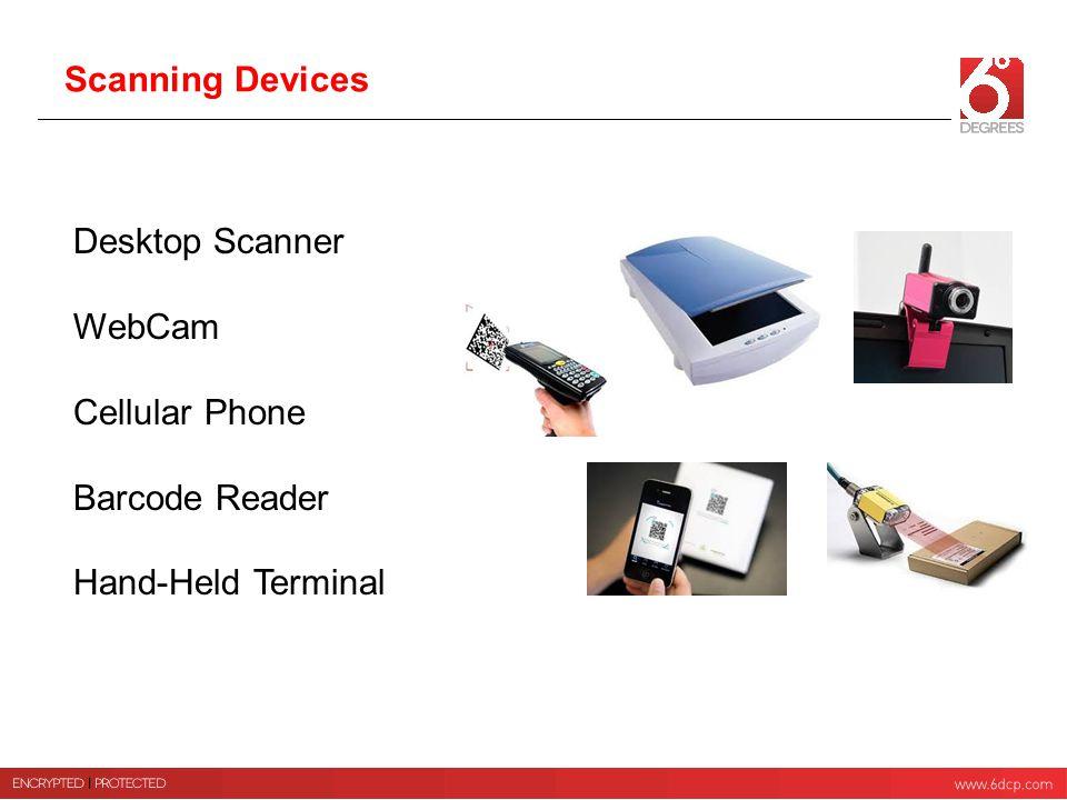 Scanning Devices Desktop Scanner WebCam Cellular Phone Barcode Reader Hand-Held Terminal
