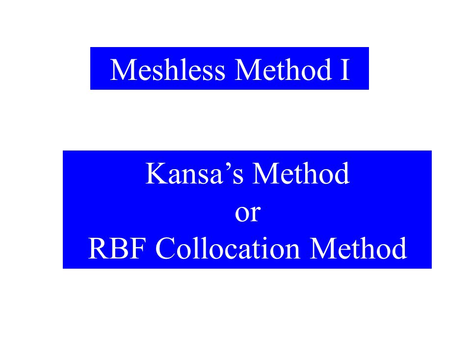 RBF Collocation Method