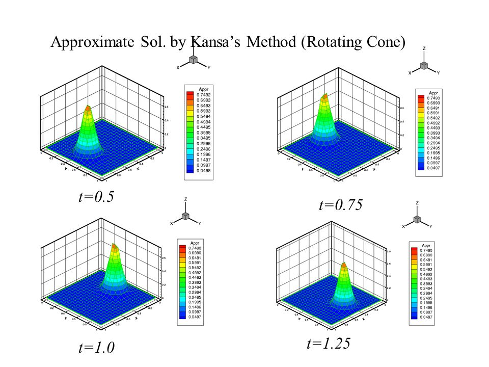 Approximate Sol. by Kansa's Method (Rotating Cone)