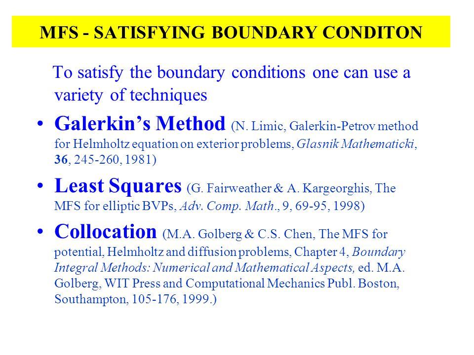 MFS - SATISFYING BOUNDARY CONDITON