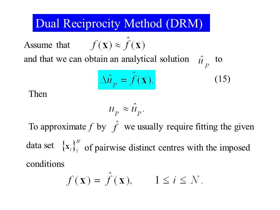 Dual Reciprocity Method (DRM)