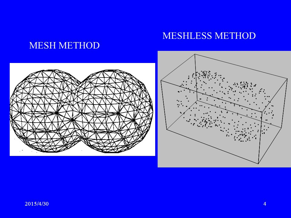 MESHLESS METHOD MESH METHOD 2017/4/13
