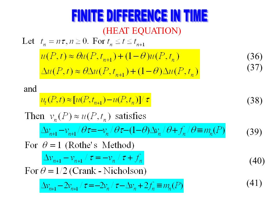 FINITE DIFFERENCE IN TIME