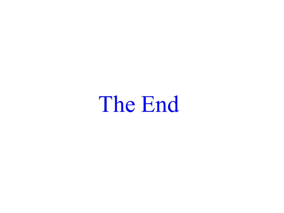 The End 2017/4/13