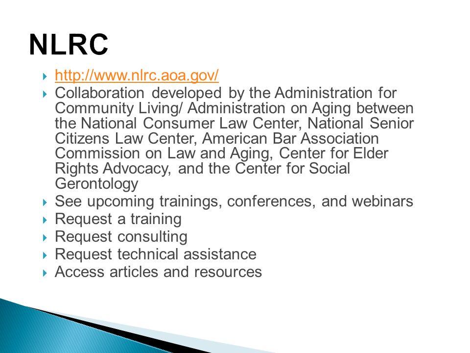 NLRC http://www.nlrc.aoa.gov/