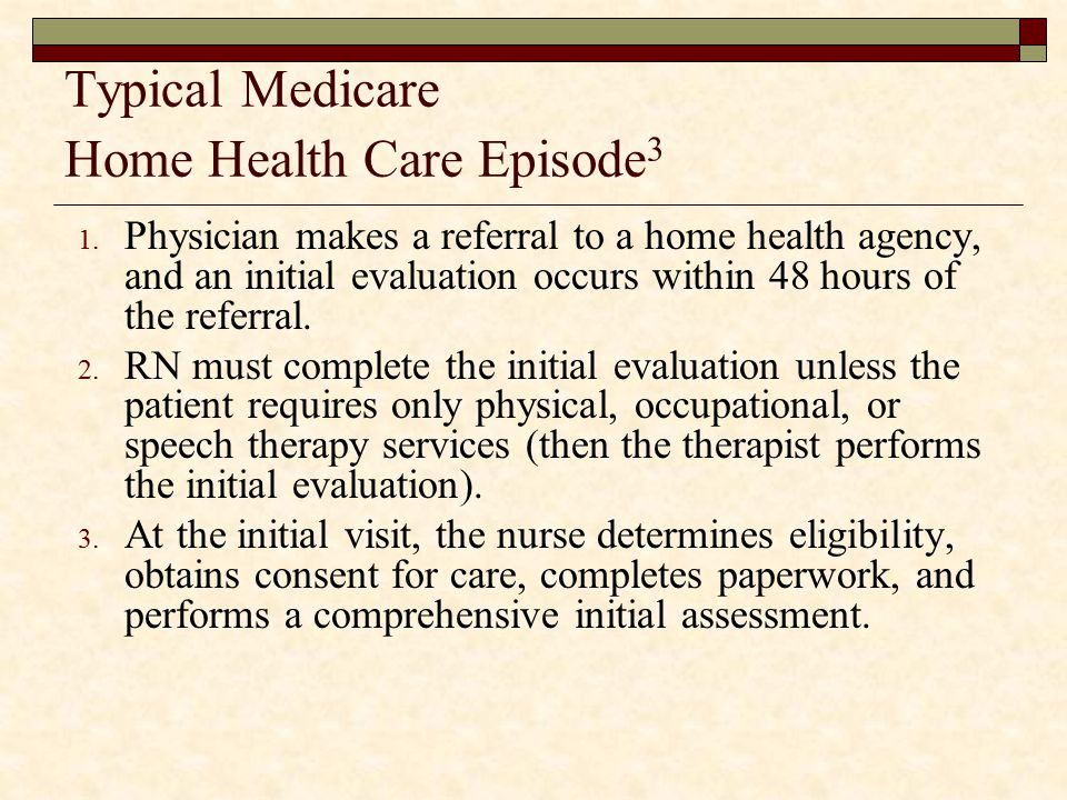 Typical Medicare Home Health Care Episode3