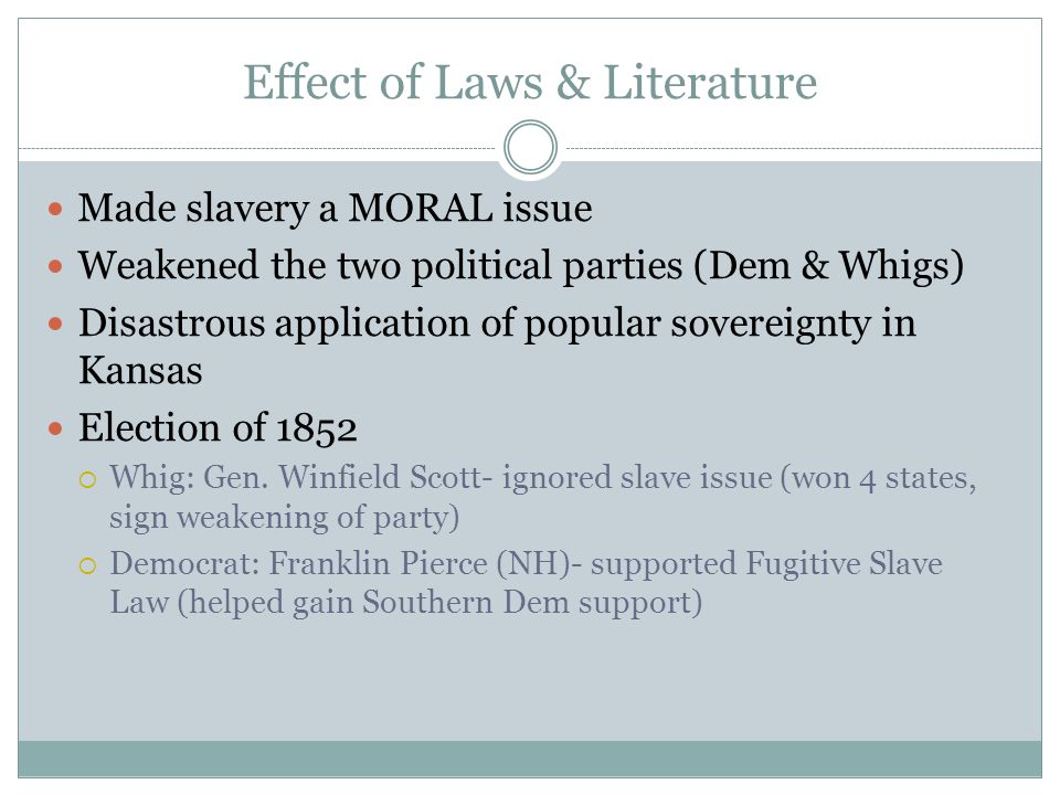 Effect of Laws & Literature