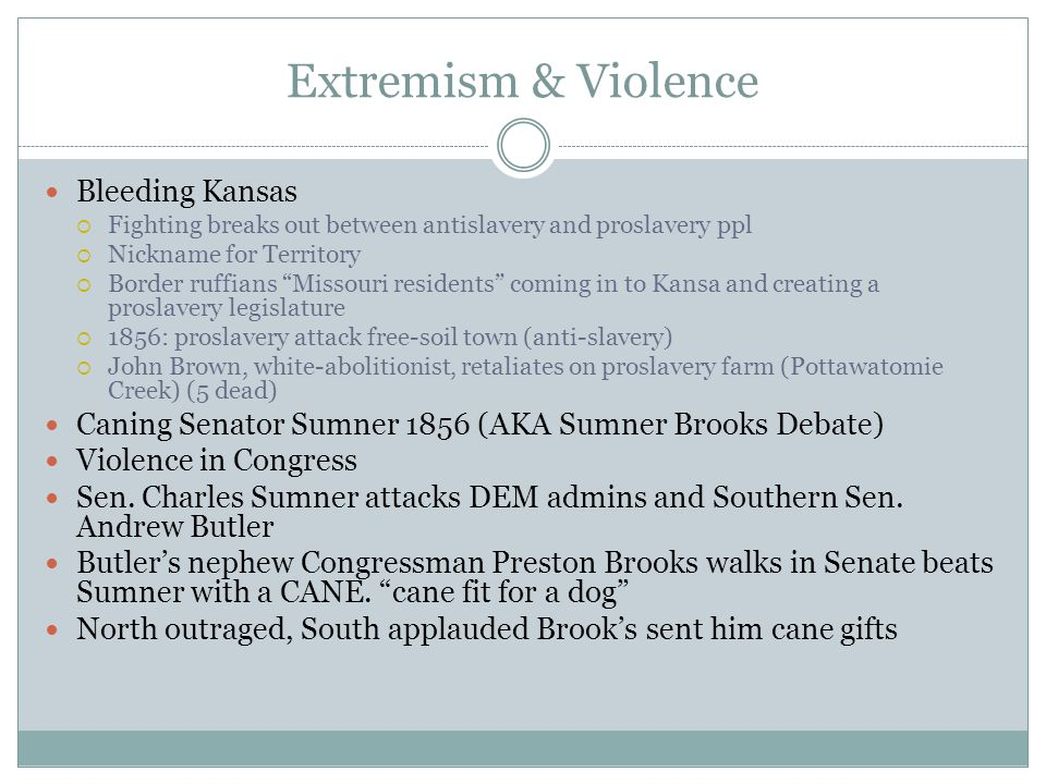 Extremism & Violence Bleeding Kansas
