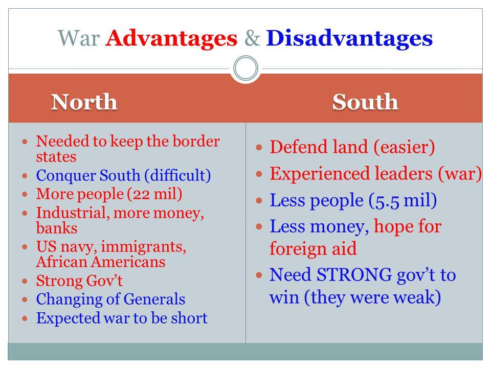 War Advantages & Disadvantages