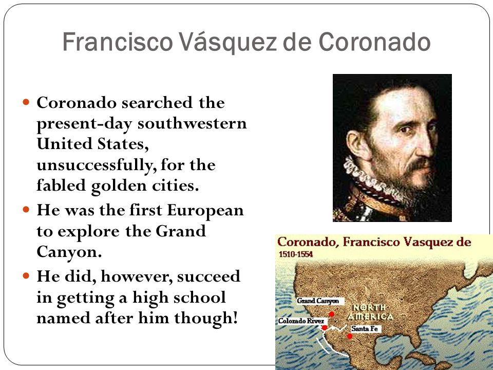 letter from fransico vasquez de coronado Francisco vázquez de coronado y luján (1510 – 22 september 1554) was a spanish conquistador and explorer who led a large expedition from mexico to present-day kansas through parts of the southwestern united states between 1540 and 1542.