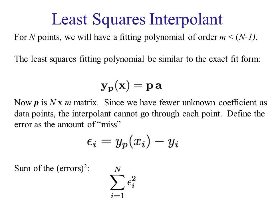 Least Squares Interpolant