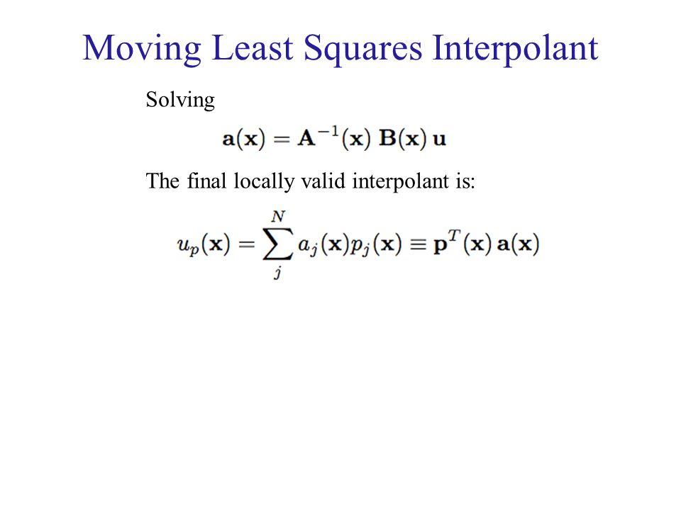 Moving Least Squares Interpolant