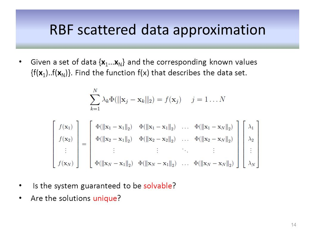 RBF scattered data approximation